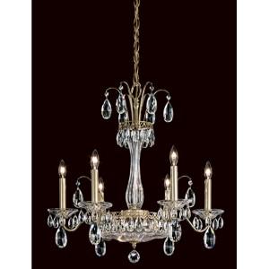 Fontana Luce Aurelia Six-Light Chandelier with Clear Heritage Crystal