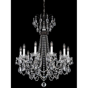 Lucia Heirloom Bronze 10-Light Clear Heritage Handcut Crystal Chandelier, 25W x 32H x 25D