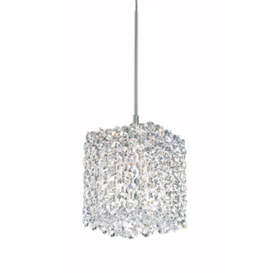 Refrax Stainless Steel One-Light Clear Spectra Crystal Pendant Light, 5W x 5H x 5D
