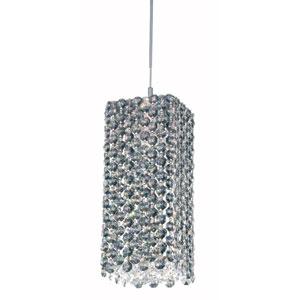 Refrax Stainless Steel One-Light Black Diamond Swarovski Strass Pendant Light, 5W x 9H x 5D