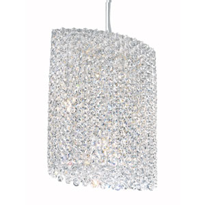 Refrax Stainless Steel Six-Light Clear Spectra Crystal Pendant Light, 10.5W x 12.5H x 10.5D