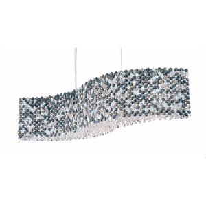 Refrax Stainless Steel 13-Light Azurite Swarovski Strass Pendant Light, 32W x 8H x 32D