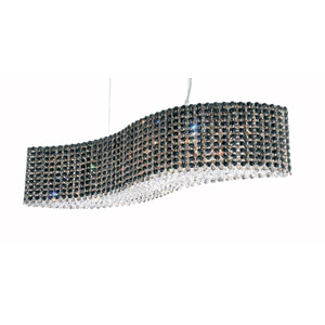 Refrax Stainless Steel 13-Light Jaguar Swarovski Strass Pendant Light, 32W x 8H x 32D