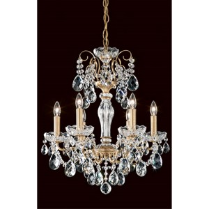 Sonatina Heirloom Gold Six-Light Mini Chandelier with Clear Heritage Crystal