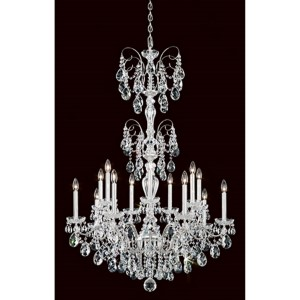 Sonatina Silver 14-Light Chandelier with Clear Heritage Crystal