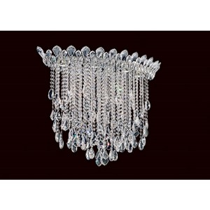 Trilliane Strands Stainless Steel Six-Light Eye Medium Flush Mount with Clear Heritage Crystal