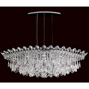 Trilliane Strands Stainless Steel Eight-Light Eye Short Pendant with Clear Heritage Crystal