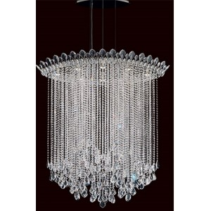 Trilliane Strands Stainless Steel Eight-Light Eye Long Pendant with Clear Heritage Crystal