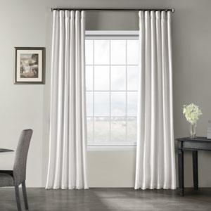 Ice Vintage Textured Faux Dupioni Silk Single Panel Curtain, 50 X 96