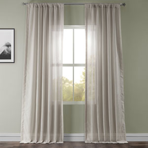 Tumbleweed Faux Linen Sheer Single Panel Curtain Panel, 50 X 108