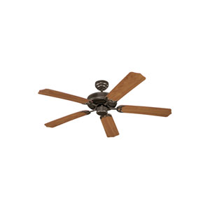 Quality Max Plus Heirloom Bronze Energy Star Two-Light LED Ceiling Fan with Walnut Grain Blades