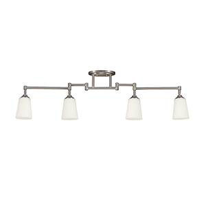 Track Lighting Brushed Nickel Five-Inch Four-Light Track Light
