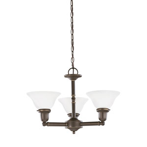 Sussex Heirloom Bronze Energy Star Three-Light LED Chandelier