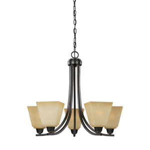 Parkfield Flemish Bronze Energy Star Five-Light LED Chandelier