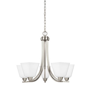 Parkfield Brushed Nickel Energy Star Five-Light LED Chandelier