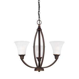 Metcalf Autumn Bronze Energy Star Three-Light LED Chandelier