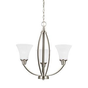 Metcalf Brushed Nickel Energy Star Three-Light LED Chandelier