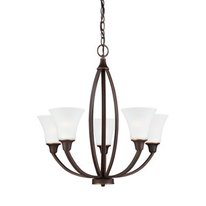 Metcalf Autumn Bronze Energy Star Five-Light LED Chandelier