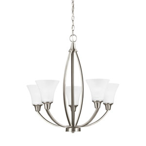 Metcalf Brushed Nickel Energy Star Five-Light LED Chandelier