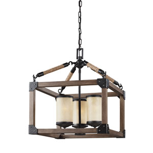 Dunning Stardust Energy Star Three-Light LED Chandelier