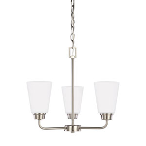 Kerrville Brushed Nickel Energy Star Three-Light LED Chandelier