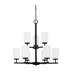 Oslo Blacksmith Energy Star Nine-Light LED Chandelier