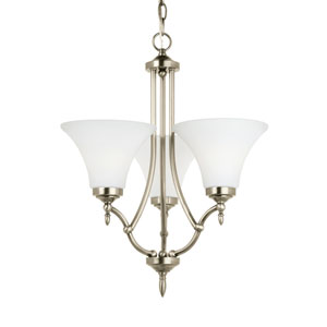 Montreal Antique Brushed Nickel Energy Star Three-Light LED Chandelier