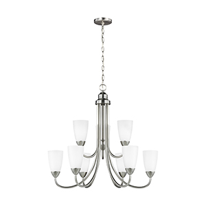 Seville Brushed Nickel Energy Star 29-Inch Nine-Light Chandelier
