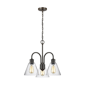 Elsa Heirloom Bronze 20-Inch Three-Light Chandelier