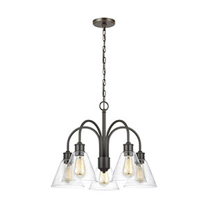 Elsa Heirloom Bronze 25-Inch Five-Light Chandelier
