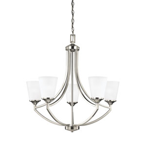 Hanford Brushed Nickel Energy Star Five-Light LED Chandelier