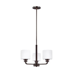 Canfield Burnt Sienna 20-Inch Three-Light Chandelier