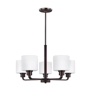 Canfield Burnt Sienna Energy Star 24-Inch Five-Light Chandelier