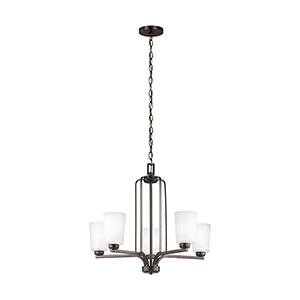 Franport Burnt Sienna 26-Inch Five-Light Chandelier