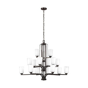 Franport Burnt Sienna Energy Star 43-Inch 15-Light Chandelier