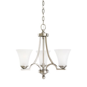 Somerton Antique Brushed Nickel Energy Star Three-Light LED Chandelier
