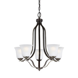 Emmons Heirloom Bronze Energy Star Five-Light LED Chandelier