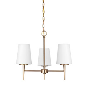 Driscoll Satin Bronze Energy Star Three-Light LED Chandelier