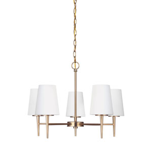 Driscoll Satin Bronze Energy Star Five-Light LED Chandelier