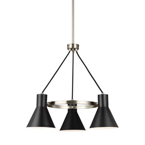 Towner Brushed Nickel Energy Star Three-Light LED Chandelier