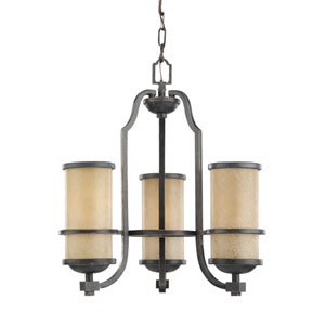 Roslyn Flemish Bronze Energy Star Three-Light LED Chandelier