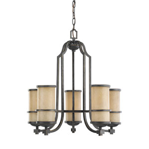 Roslyn Flemish Bronze Energy Star Five-Light LED Chandelier