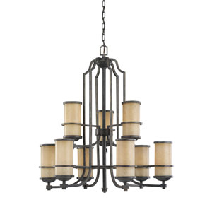 Roslyn Flemish Bronze Energy Star Nine-Light LED Chandelier