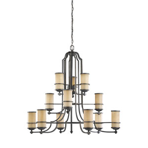 Roslyn Flemish Bronze Energy Star 12-Light LED Chandelier