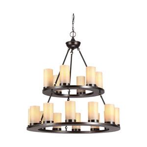 Ellington Burnt Sienna Energy Star 18-Light LED Chandelier