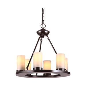 Ellington Burnt Sienna Energy Star Six-Light LED Chandelier