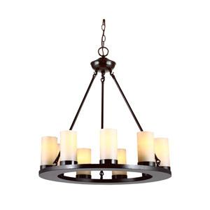 Ellington Burnt Sienna Energy Star Nine-Light LED Chandelier