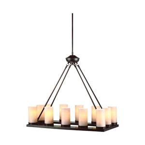 Ellington Burnt Sienna Energy Star 12-Light LED Chandelier