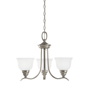 Wheaton Brushed Nickel Energy Star Three-Light LED Chandelier