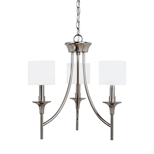 Stirling Brushed Nickel 19-Inch Three-Light Chandelier